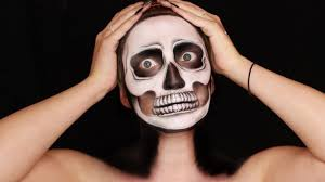 classic skull halloween makeup tutorial glamnanne youtube