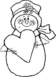 heart and snowman coloring pages to print winter coloring pages