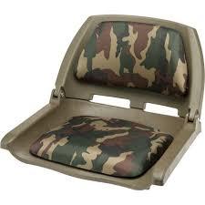 marine raider woodland camo padded fold down boat seat academy