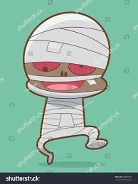 walking mummy halloween monster cartoon vector stock vector