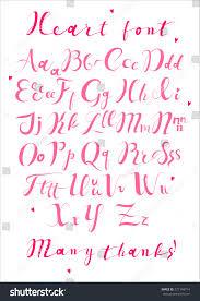 pink heart love alphabet my big stock vector 271148714 shutterstock