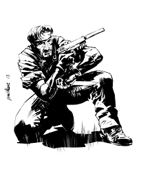 metal gear solid snake inked up by paul moore on deviantart