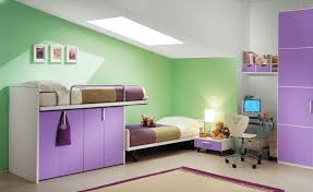 bedroom design bright emerald wall paint color background