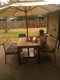 patio table grommet building furniture coffee under the umbrella