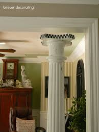 Pillars In Home Decorating Forever Decorating The Rest Of The Story On Our Pillars