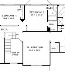 5 Bedroom 4 Bathroom House Plans by Plans 5 Bedroom House Plans Bathroom Floor Plans European House