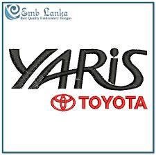 toyota yaris emblem toyota yaris logo embroidery design emblanka com