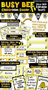 Pinterest Classroom Decor by Busy Bee Classroom Decor Editable My Busy Bee Students Love The
