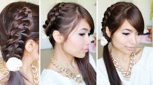 chinese staircase stitch ponytail hairstyle for medium long hair
