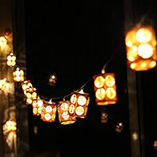 Lanterns Decorated For Christmas by Amazon Com Coleman Led String Lights 10 Lanterns Sports U0026 Outdoors