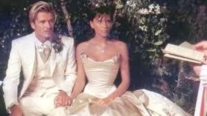 beckham wedding dress david and beckham throwback wedding photos on 17th