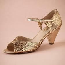 wedding shoes small heel wedding ideas low heel gold weddinghoes glitterparkhoe handmade