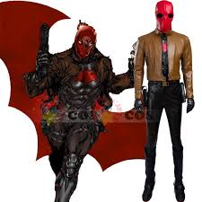red hood batman cosplay costume halloween costume men