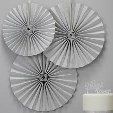 paper fan circle decorations 3 silver glitter pinwheel fan decorations pipii