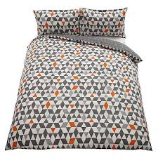 buy house by john lewis triangles duvet cover and pillowcase set