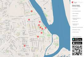 Map Of Cambodia Phnom Penh Printable Tourist Map Sygic Travel