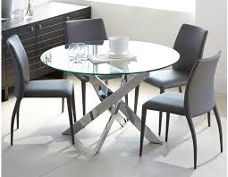 Glass And Chrome Dining Table Best 25 Round Glass Kitchen Table Ideas On Pinterest Banquette