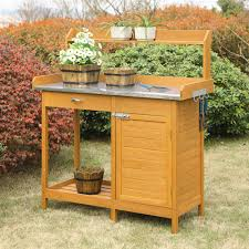 convenience concepts g10440 deluxe potting bench with cabinet