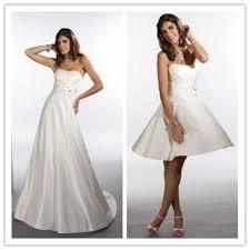 satin strapless empire 2 in 1 wedding dress wedding dress