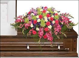 funeral casket eternal beauty casket spray funeral flowers in lafayette la la