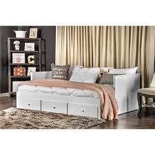Daybed With Drawers Furniture Of America Ophelia Cottage Style Solid Wood Full Size