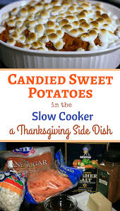 Candied Yams Thanksgiving Slow Cooker Candied Sweet Potatoes Recipe A Year Of Slow Cooking