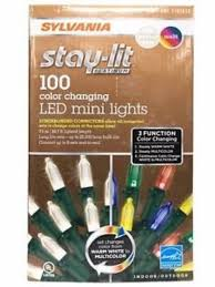 100 count mini lights sylvania 100 count led mini lights 3 in 1 synchronized color
