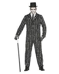 bone suit men s costume skeleton costume for halloween horror