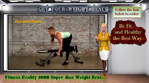 fitness reality 1000 super max weight bench youtube