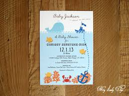 the sea baby shower invitations the sea baby shower invitation my dye