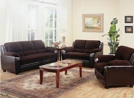 Living Room  Wonderful Chocolate Brown Microfiber Living Room Set - Microfiber living room sets