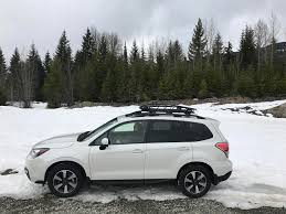 subaru forester xt 2017 white recent purchase 2017 forester 2 5i premium with a thule canyon