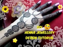 easy diy best and beautiful hand jewellery inspired henna mehndi