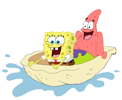 spongebob and patrick riding a shell by eyecupcakes on deviantart