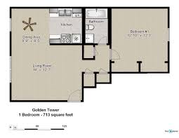 floor plans of golden tower apartments in evansville in