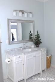 Cottage Style Bathroom Ideas Colors White Vanity Marble Top Benjamin Moore Ocean Air Bathroom