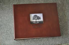 leather bound wedding album classic archival photo album a personalized photo book by