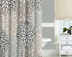 Coral And Grey Shower Curtain Dahlia Shower Curtain Navy Blue Pink Gray Shower Curtain