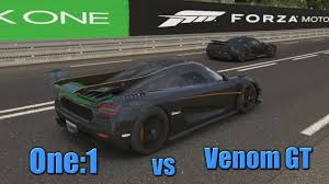 koenigsegg one 1 black forza 6 koenigsegg one 1 vs venom gt digs u0026 rolls ep 4 260