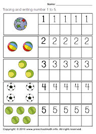 free preschool writing number worksheets