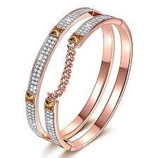 swarovski crystal gold plated bracelet images J nina quot london impression quot rose gold plated modern bracelet with clear jpg