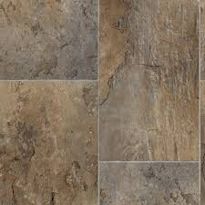 Slate Style Laminate Flooring Trafficmaster Rectangular Offset Slate Brown Grey 13 2 Ft Wide X