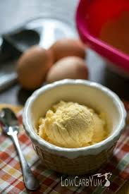 egg fast vanilla frozen custard ice cream low carb yum