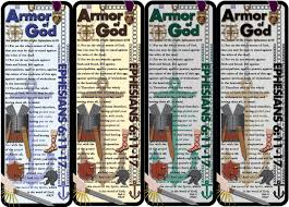 amazon com armor of god bible bookmark men 4 pack double sided