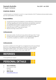 It Support Resume Resume Text Format
