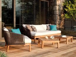 canap teck jardin mobilier de jardin en teck par tribù élégance et fonctionnalité