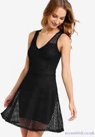 miss selfridge black party dresses honeycomb skater dress