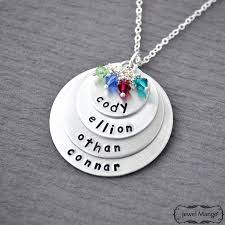 Personalized Necklaces For Moms Mother Necklace Mom Of 4 Personalized Necklace Mommy Necklace 4