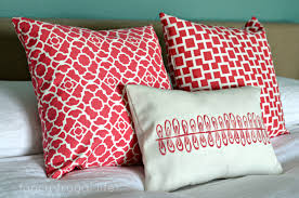Living Room Pillows by I Sewed These Three Throw Pillows Including A Cute Stenciled One