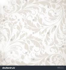 wallpaper floral ornament leafs flowers vintage stock vector